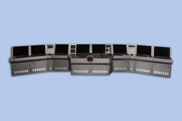 Bridge console for mega yacht