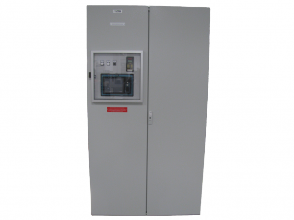 Control cabinet for controlling and monitoring the main engines of a cruise liner