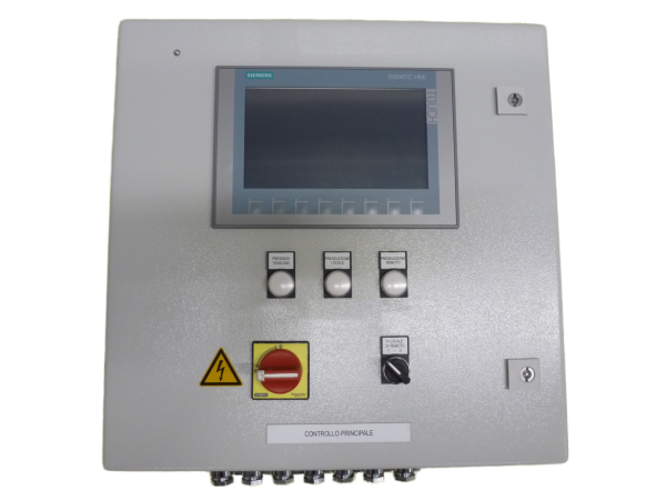 Control cabinet for central compressed air supply for a patrol ship